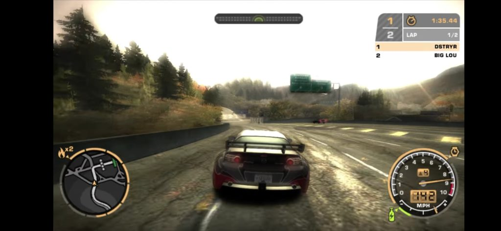 NFS Most Wanted 2005 gameplay